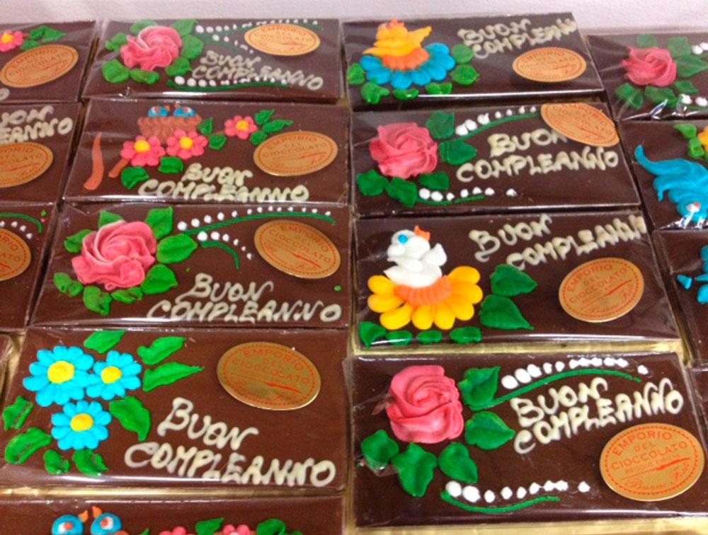 Tavoletta Buon Compleanno Cioccolato Extra Fondente